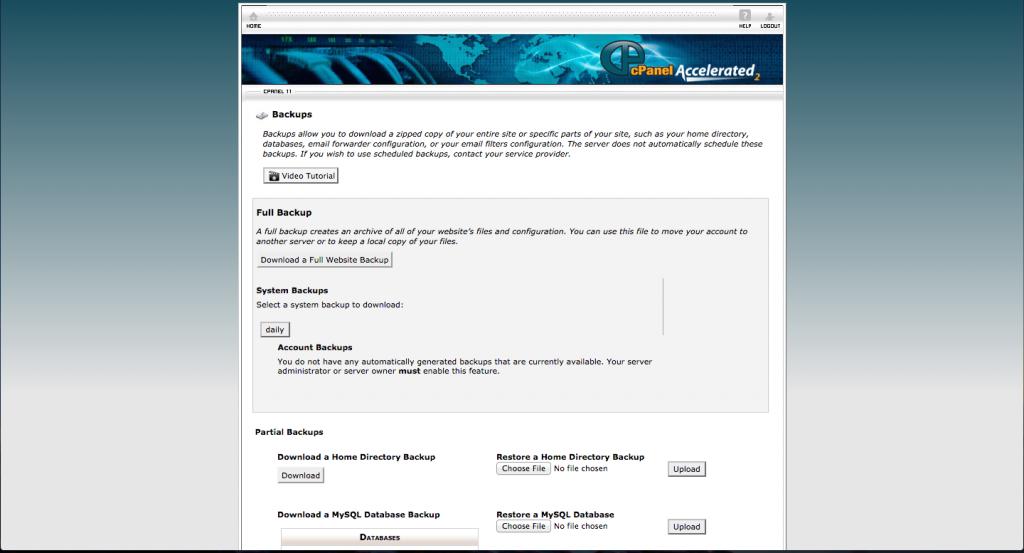 backup wordpress cpanel