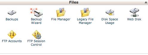 files backup wordpress